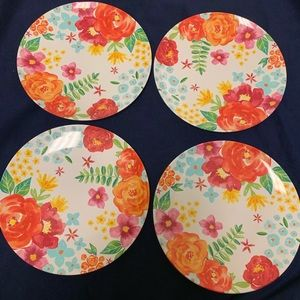 """Other - NWT Beautiful Plates, Set of Four, 11"""" wide"""